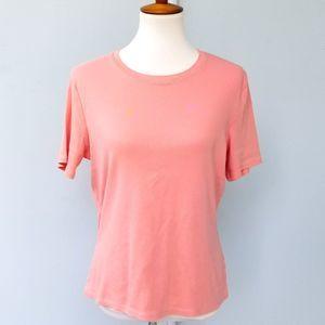 Brooks Brothers 346 Women's L Salmon T-Shirt